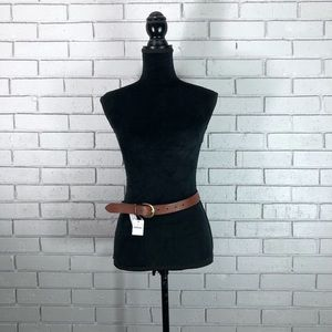 J. Crew Women's Dark Nutmeg Classic Leather Belt